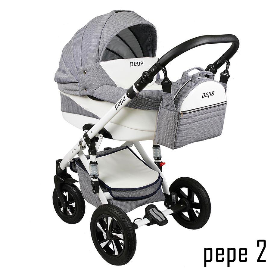 pepe kombi kinderwagen 3 in 1 babyschale autositz buggy babywagen neu. Black Bedroom Furniture Sets. Home Design Ideas