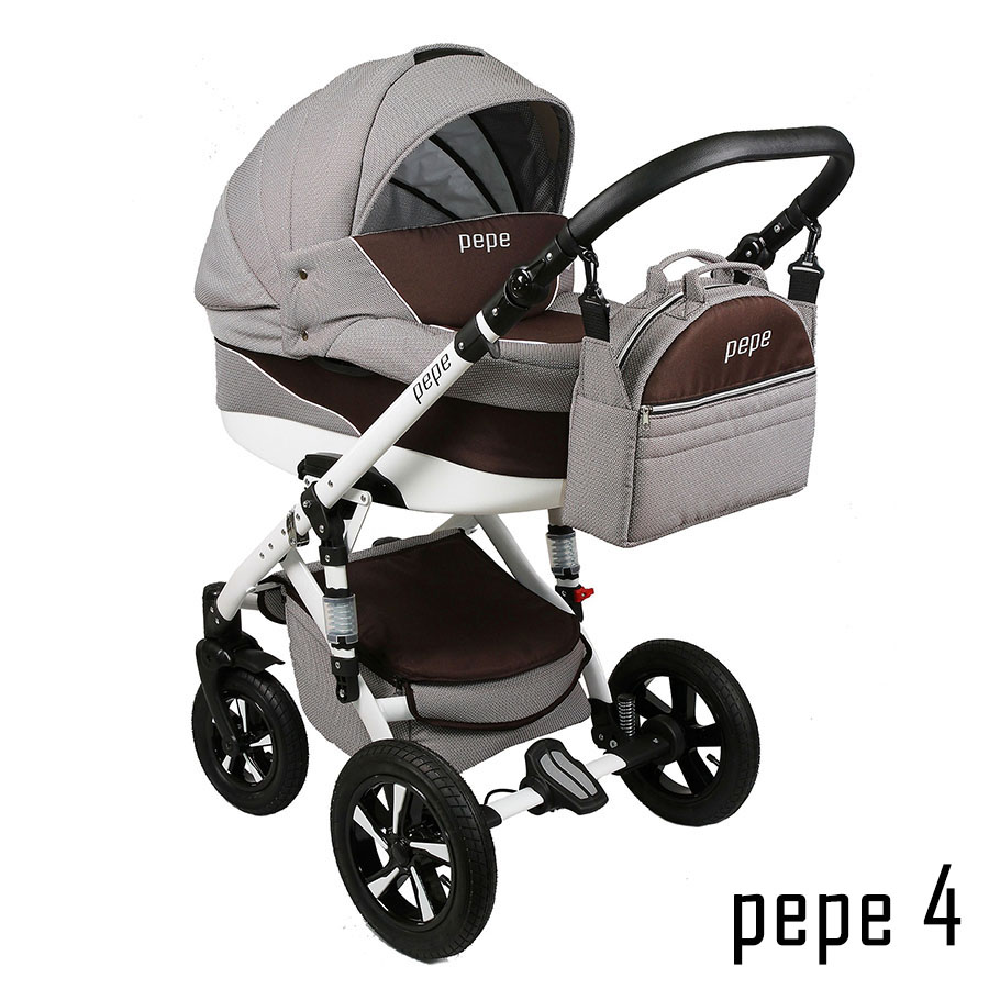 pepe kombi kinderwagen 3 in 1 babyschale autositz buggy babywagen neu ebay. Black Bedroom Furniture Sets. Home Design Ideas
