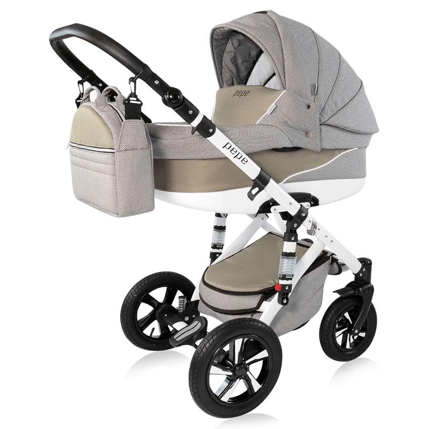 pepe kombi kinderwagen 3 in 1 babyschale autositz buggy. Black Bedroom Furniture Sets. Home Design Ideas