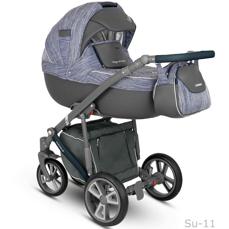 Camarelo Sudari Kombi-Kinderwagen 3 in 1 mit Babyschale / su11