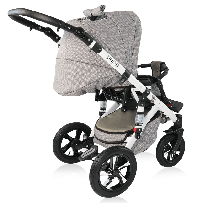 pepe kombi kinderwagen 3 in 1 mit babyschale 01 pep01 2. Black Bedroom Furniture Sets. Home Design Ideas