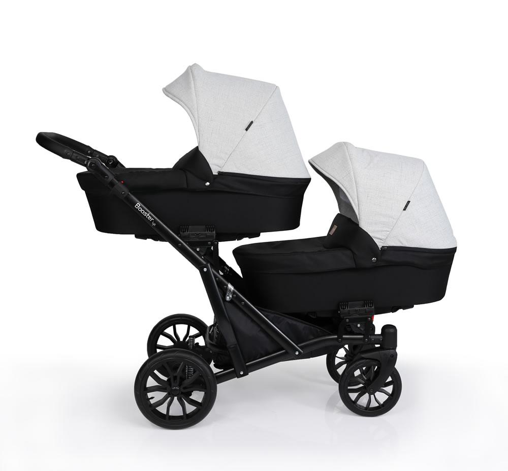 Kunert Booster Zwillingskinderwagen / Geschwisterwagen 2 in 1 ohne Babyschale / Booster04
