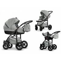 Mikado Luxor eco Leder Kombi-Kinderwagen 3 in 1 mit Babyschale|Luxor eco04