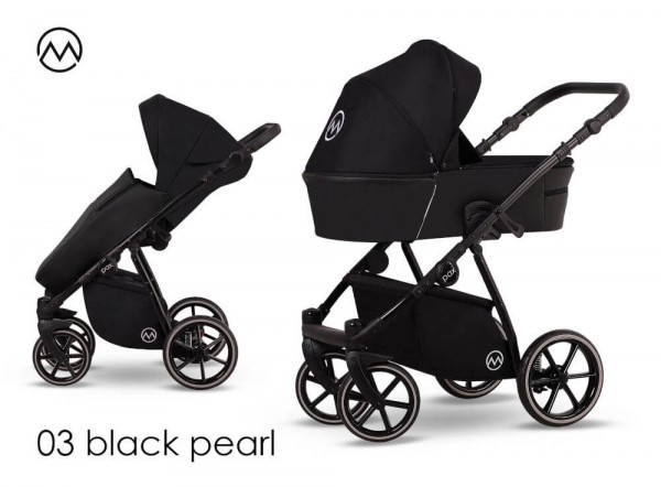 Lonex Pax Rose Kombi-Kinderwagen Black Pearl 03