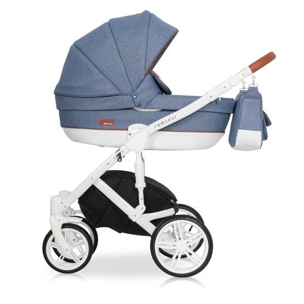 Riko Naturo Kombi-Kinderwagen 2 in 1 ohne Babyschale / Denim