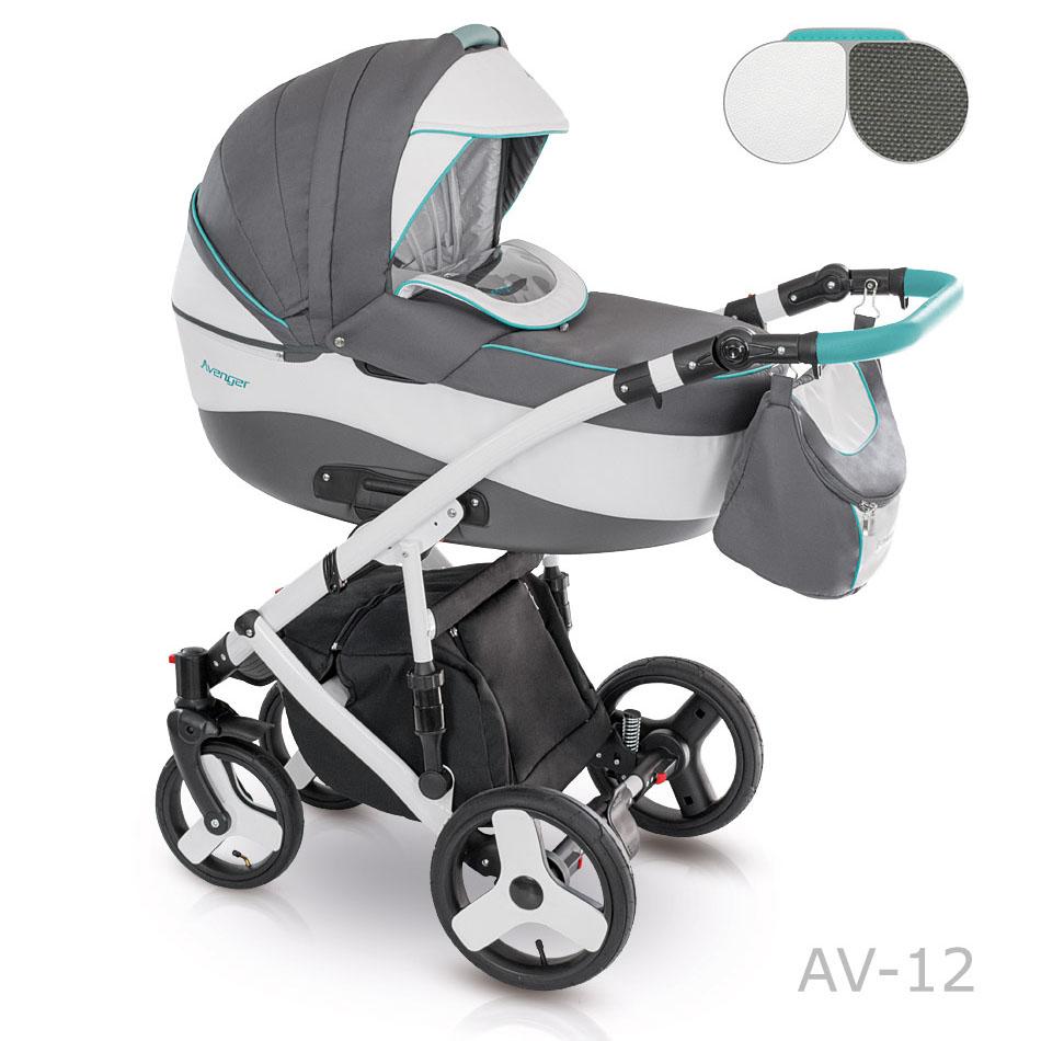 Camarelo Avenger Kombi-Kinderwagen 3 in 1 mit Babyschale / AV12