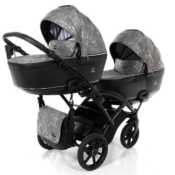 Tako Baby Corona Duo Slim Geschwisterwagen / Zwillingskinderwagen