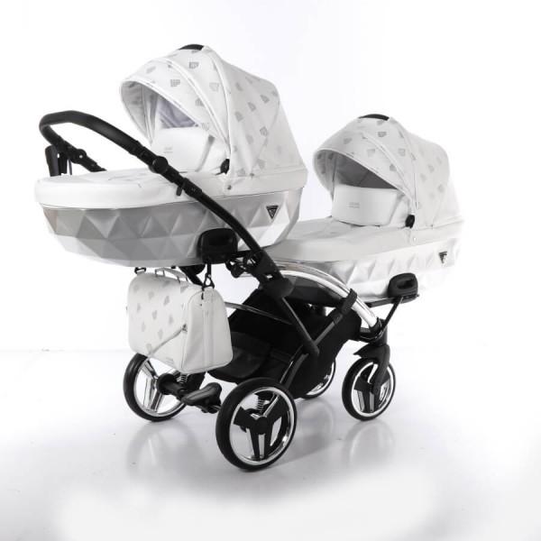 Junama Glow Duo Slim Zwillingskinderwagen / Geschwisterkinderwagen