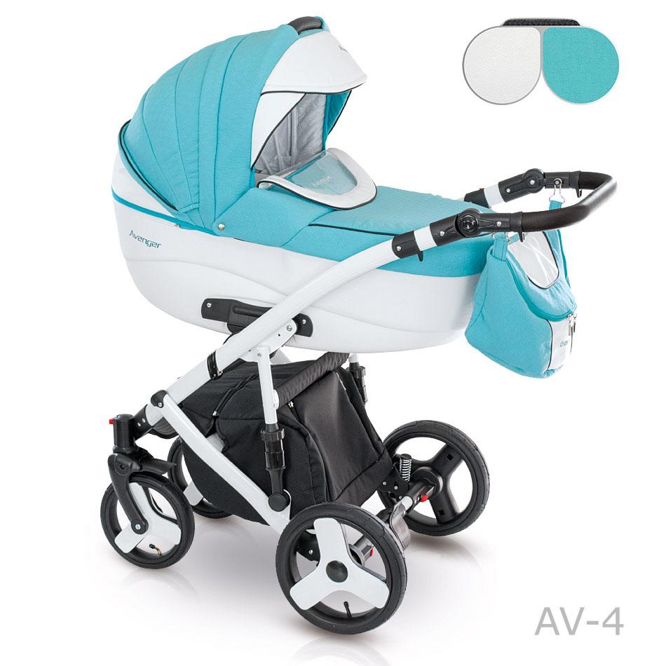 Camarelo Avenger Kombi-Kinderwagen 3 in 1 mit Babyschale / AV04