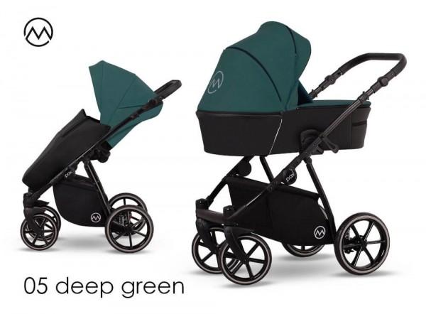 Lonex Pax Rose Kombi-Kinderwagen Deep Green 05
