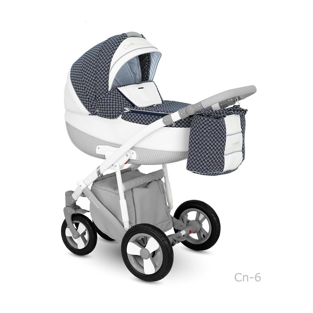 Camarelo Canillo Kombi-Kinderwagen 3 in 1 mit Babyschale / CN6