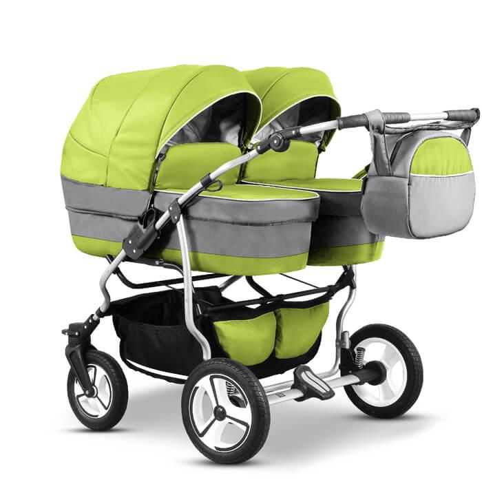 mikado duet twin zwillingskinderwagen geschwisterwagen 3 in 1 mit babyschale twin03 du twin 6. Black Bedroom Furniture Sets. Home Design Ideas