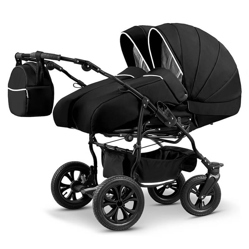 mikado duet lux zwillingskinderwagen geschwisterwagen 3 in 1 mit babyschale luy farbe02 duet lux 4. Black Bedroom Furniture Sets. Home Design Ideas