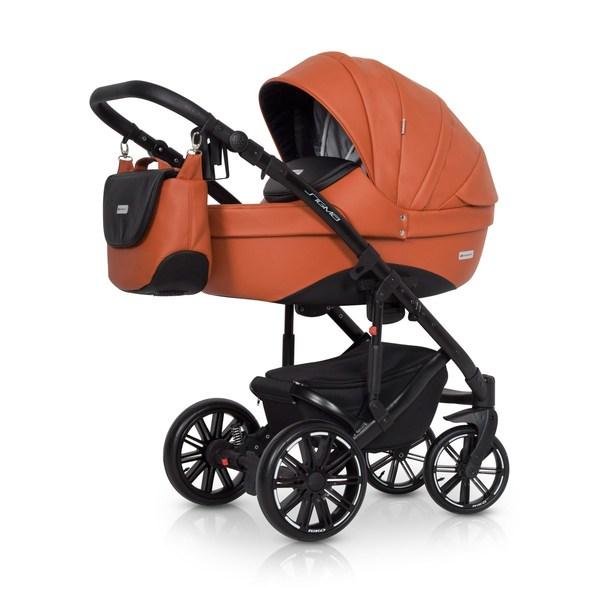 Riko Sigma Kombi-Kinderwagen 2 in 1 ohne Babyschale / cognac