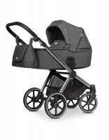 Riko Qubus Kombi-Kinderwagen 2 in 1 ohne Babyschale|Titanium
