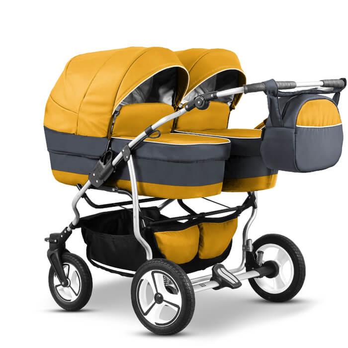 mikado duet twin zwillingskinderwagen geschwisterwagen 3 in 1 mit babyschale twin05 du twin 10. Black Bedroom Furniture Sets. Home Design Ideas