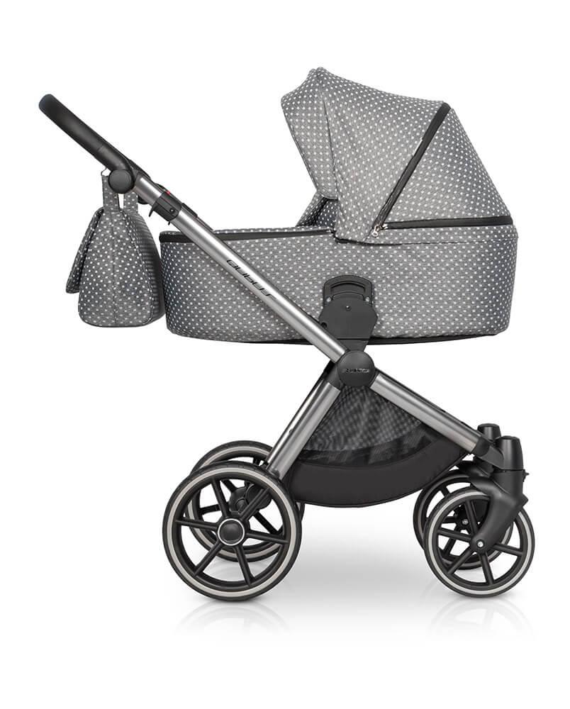 Riko Qubus Kombi-Kinderwagen 3 in 1 mit Babyschale / Crystal