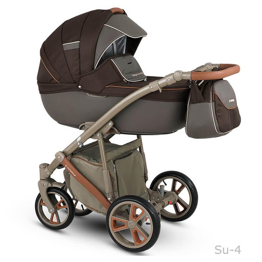 Camarelo Sudari Kombi-Kinderwagen 3 in 1 mit Babyschale / su4