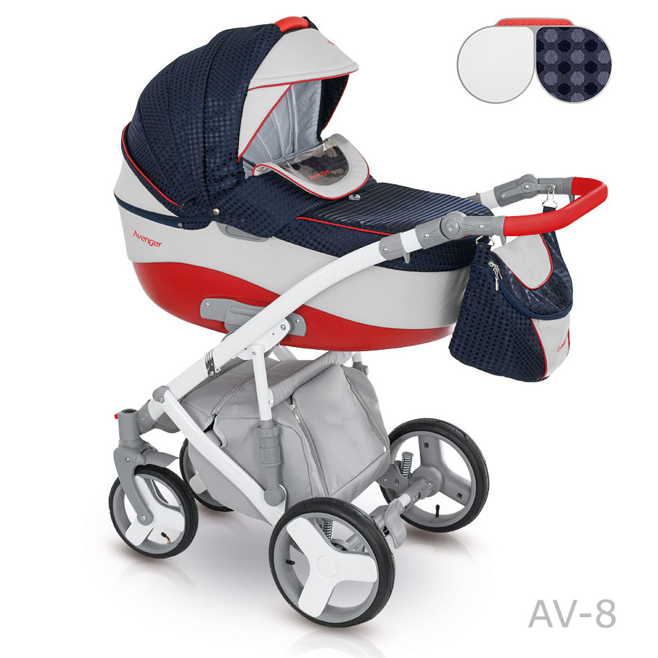 Camarelo Avenger Kombi-Kinderwagen 3 in 1 mit Babyschale / Av08